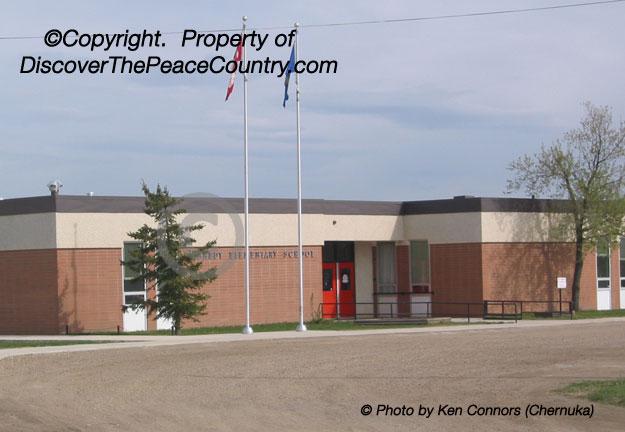 Grimshaw, Alberta  Grimshaw Schools - archived photo of the